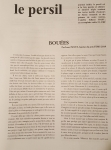 revue, le persil, francophone, suisse, roumanie, Camelia Iuliana Radu, marius daniel popescu, jean-pierre longre